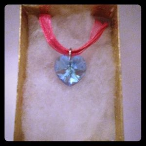 Jewelry - Atlantic Blue Crystal Heart Necklace